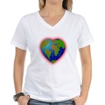 Earth Heart Women's V-Neck T-Shirt