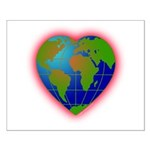 Earth Heart Small Poster