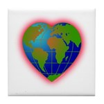 Earth Heart Tile Coaster