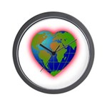 Earth Heart Wall Clock