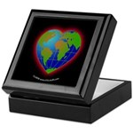 Earth Heart Black Keepsake Box