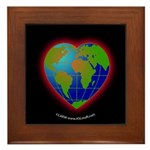 Earth Heart Black Framed Tile