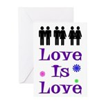 Love is Love Greeting Cards (Pack of 6)