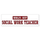 Worlds best Social Work Teach Bumper Sticker