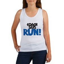 Coach says: Run! Women's Tank Top