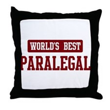 Worlds best Paralegal Throw Pillow