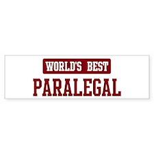 Worlds best Paralegal Bumper Sticker (50 pk)
