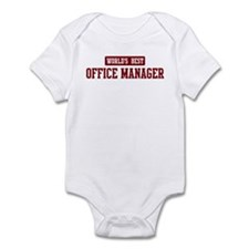 Worlds best Office Manager Infant Bodysuit