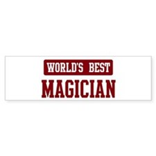 Worlds best Magician Bumper Sticker (50 pk)