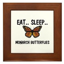 Eat ... Sleep ... MONARCH BUTTERFLIES Framed Tile