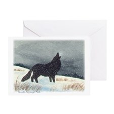 Snowdusted Wolf Personalize Greeting Card