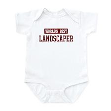 Worlds best Landscaper Infant Bodysuit