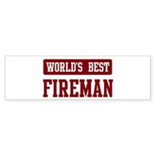 Worlds best Fireman Bumper Bumper Sticker