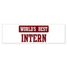 Worlds best Intern Bumper Sticker (10 pk)