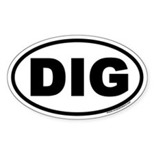 DIG Euro Oval Decal