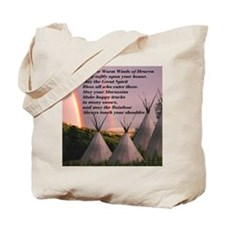 Cherokee Blessing Prayer Tote Bag