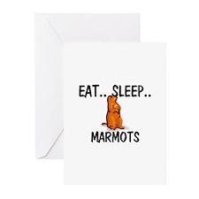 Eat ... Sleep ... MARMOTS Greeting Cards (Pk of 10