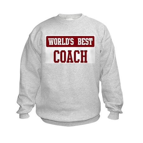 Worlds best Coach Kids Sweatshirt