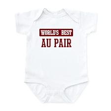 Worlds best Au Pair Infant Bodysuit