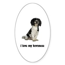 Havanese Love Oval Decal
