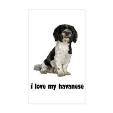 Havanese Love Rectangle Decal
