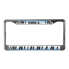 """Chill"" Penguin License Plate Frame"