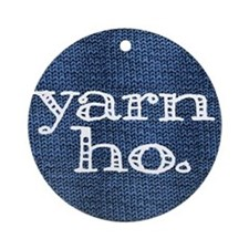 Yarn Ho Ornament (Round)