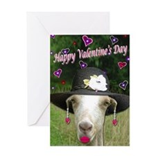 Ruby the Valentine Goat Greeting Card