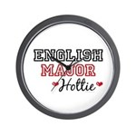 English Major Hottie Wall Clock