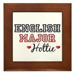 English Major Hottie Framed Tile