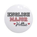 English Major Hottie Ornament (Round)