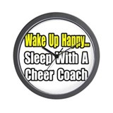 """..Sleep w/ Cheer Coach"" Wall Clock"