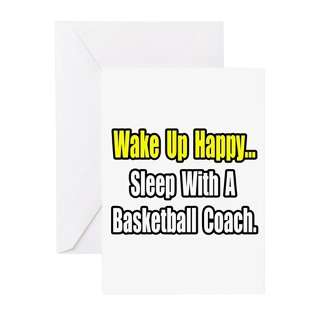 """Sleep w/ Basketball Coach"" Greeting Cards (Pk of"