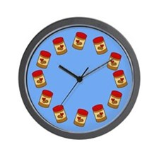 Jar of Peanut Butter Wall Clock