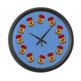 Jar of Peanut Butter Large Wall Clock