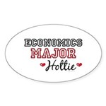 Economics Major Hottie Oval Sticker