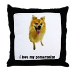 Pomeranian Lover Throw Pillow
