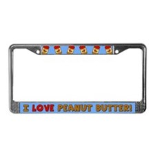 I Love Peanut Butter License Plate Frame