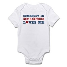 Somebody in New Hampshire Loves Me Infant Bodysuit