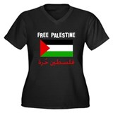 Free Palestine dark shirts Women's Plus Size V-Nec