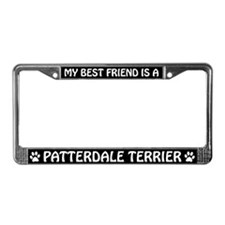 My Best Friend is a Patterdale License Plate Frame