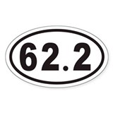 62.2 Euro Oval Decal