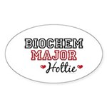 Biochem Major Hottie Oval Sticker (10 pk)