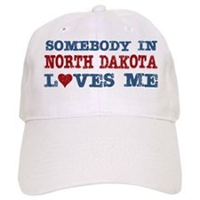 Somebody in North Dakota Loves Me Baseball Cap