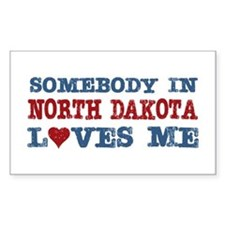 Somebody in North Dakota Loves Me Decal