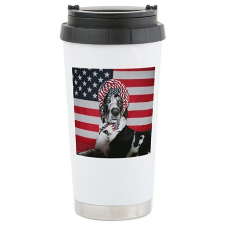 Lollipop 4th of July Ceramic Travel Mug