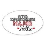 Civil Engineering Major Hottie Sticker (Oval 10 pk