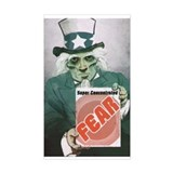 Fear Uncle Sam! Rectangle Decal
