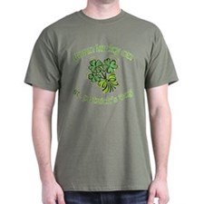 Born Lucky on ST PATRICKS DAY T-Shirt