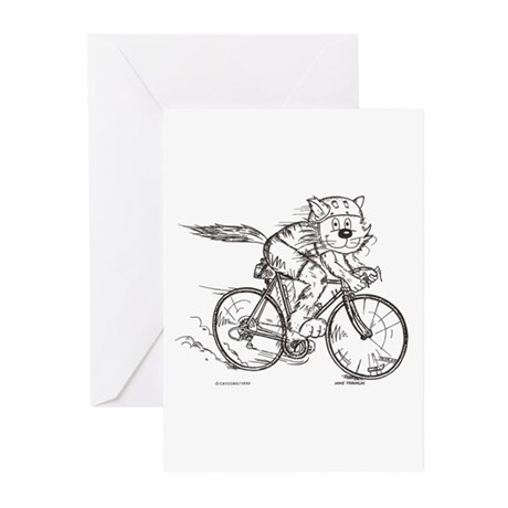 Bicycle Cat Greeting Cards (Pk of 10)